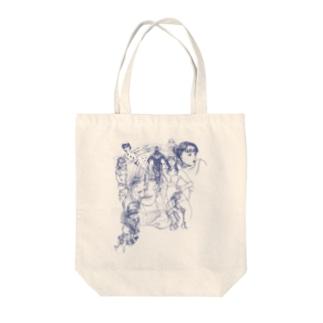 落書き Tote bags