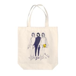 ミカミナツコ Tote bags