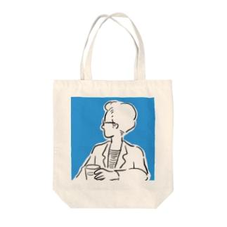 純喫茶にて Tote bags