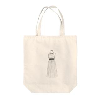 ノースリーブワンピース Tote bags