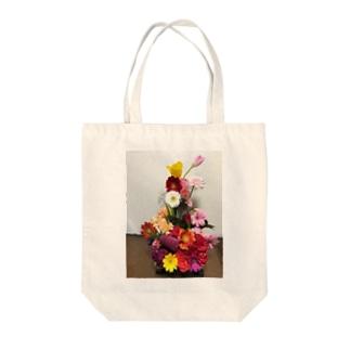 フラワーアレンジメント Tote bags