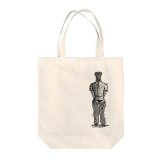 メリケンサック Tote bags