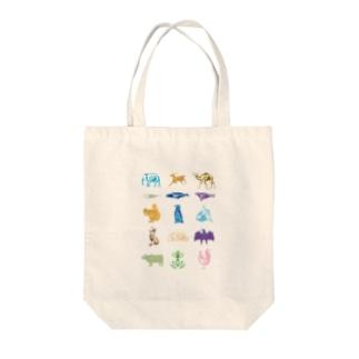 Animalia Anatomy Tote bags