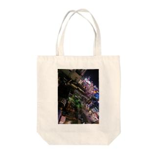 beautiful city SHIBUYA Tote bags