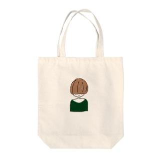 照れマッシュ Tote bags