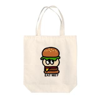 EAT ME? Tote bags