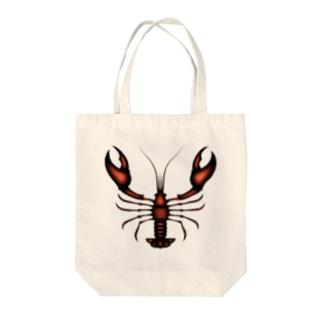 ザリガニ Tote bags