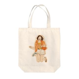飛び出せ雑誌モデル Tote bags
