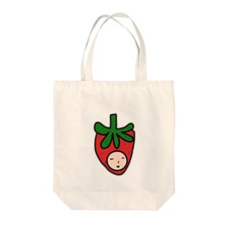 いちご人 Tote bags