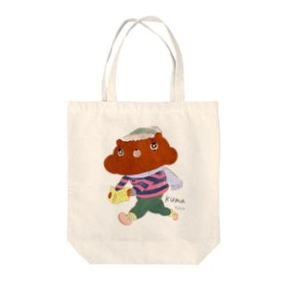 感動クマー Tote bags