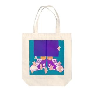 うさぎいっぱい Tote bags