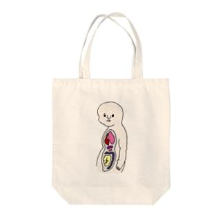 人体模型のひと(横向き) Tote bags