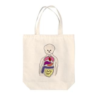 人体模型のひと(正面) Tote bags