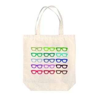 GLASSES Tote bags