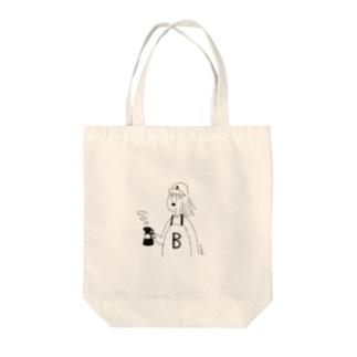 B子のコーヒー Tote bags