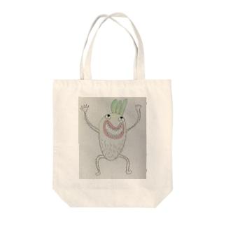 狂暴な大根 Tote bags