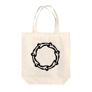 ニョロニョロ Tote bags