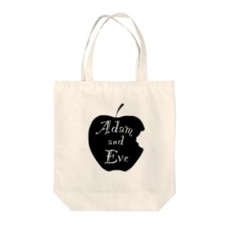 モノクロ 林檎 Tote bags