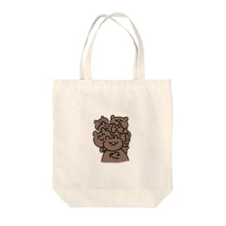 KUMAたち Tote bags