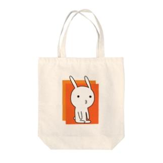 素うさぎ ー瞑想ー Tote bags
