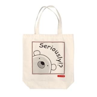 くまのポポ(Seriously!?) Tote bags