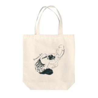 よっぱらいモノクロ Tote bags