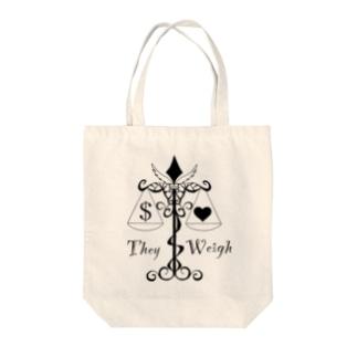 モノクロ 天秤 Tote bags