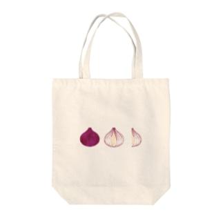 レッドオニオンカット Tote bags