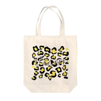 ヒョウ柄EGGCAFE Tote bags