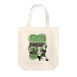 GREEN Tote bags