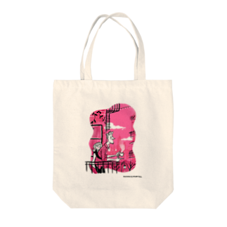 Seto HiroakiのPINK Tote bags