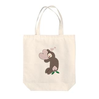 モモモモンキー Tote bags
