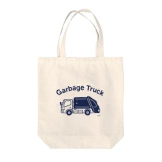 Garbage Truck Tote bags