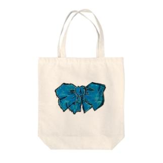 あおいりぼん Tote bags