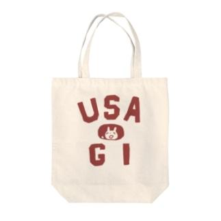 USA 赤 Tote bags