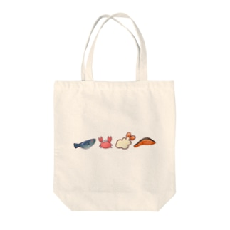 おいしいうみのさち Tote bags