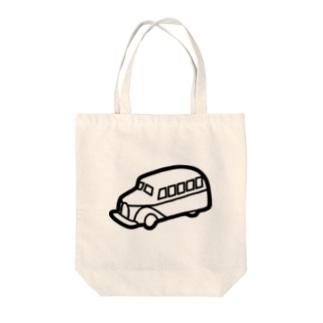 retro-Bus Tote bags