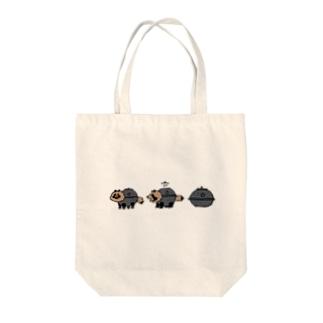 茶釜たぬき Tote bags