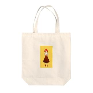 短髪女の子 Tote bags