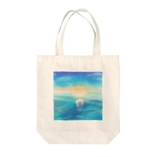 夜明けのアザラシ Tote bags