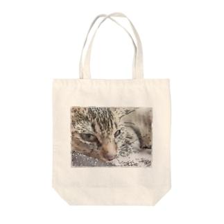 びす Tote bags