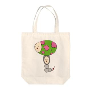 エッグムッシー Tote bags