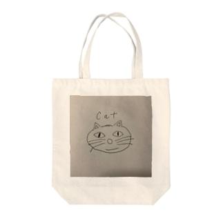 猫、手書きイラスト、グッズ Tote bags