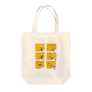 POOLさんとあそぼ Tote bags