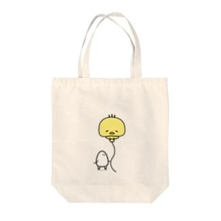 ふわふわゆきちトートバッグ Tote bags