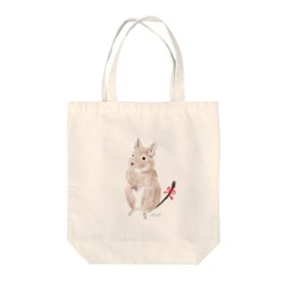 おめかしデグー Tote bags