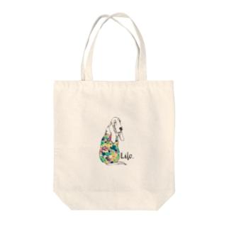 バセットのリロさん Tote bags
