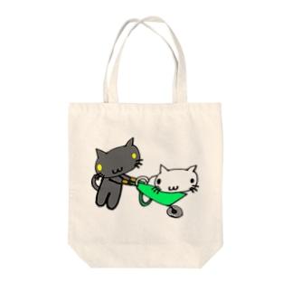 ネコ猫キャット Tote bags