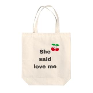 shesaidloveme Tote bags