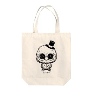 赤ちゃんフクロウ Tote bags